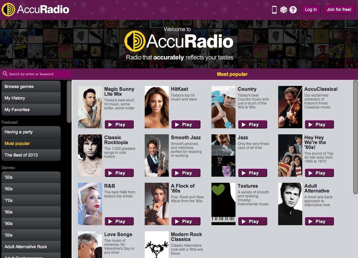 AccuRadio〜無料で海外の音楽を流せるラジオサイトが超便利!〜